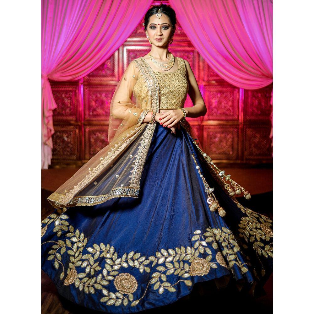 Stunning Blue Lehenga