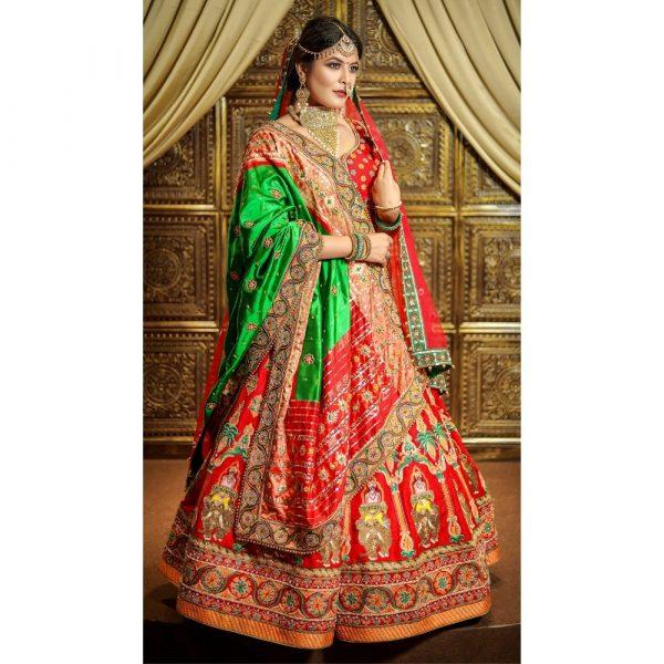 Stunning Red Bridal Lehenga