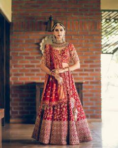 Luxury Red Bridal Lehenga