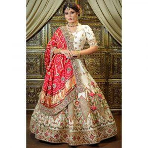 silk wedding lehenga